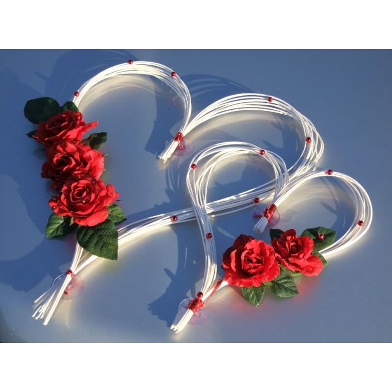 D coration voiture mariage en c ur pour une c r monie magnifique bouquet de la mariee Decoration voiture mariage romantique