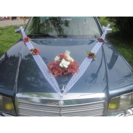 Dècoration voiture mariage chocolat