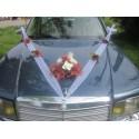 Décoration de voiture de mariage thème chocolat avec belles roses