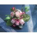 Décoration de voiture pour mariage couleur rose ou bordeaux