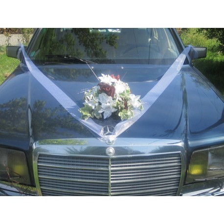 décoration voiture mariée chocolat OU bordeaux