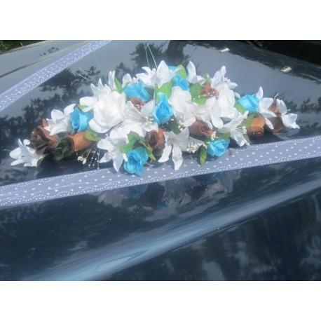 bouquet de voiture chocolat / turquoise