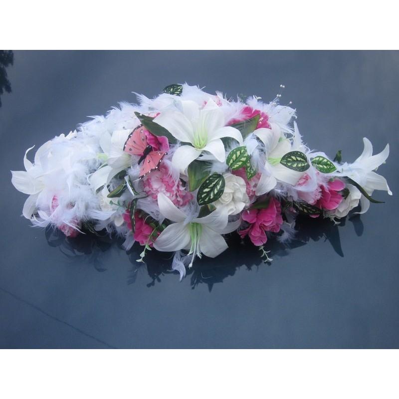 d coration voiture pas cher pour mariage blanc rose fushia bouquet de la mariee. Black Bedroom Furniture Sets. Home Design Ideas