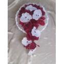Bouquet de Mariage Cascade thème Bordeaux Blanc avec Orchidée
