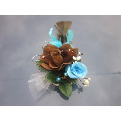 Centre de table chocolat turquoise 16cm