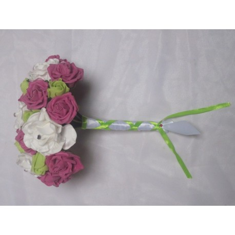 Bouquet mariée fushia et anis