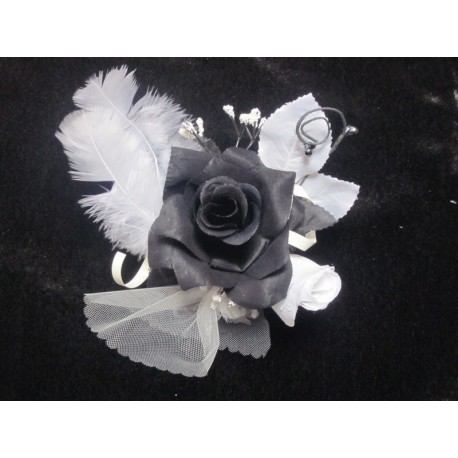 Centre de table noir et blanc 17cm