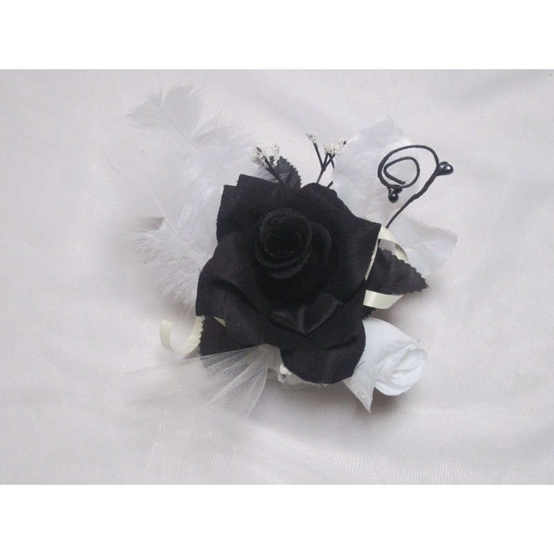 Centre de table pour mariage th me noir et blanc diam tre - Decoration voiture mariage noir et blanc ...