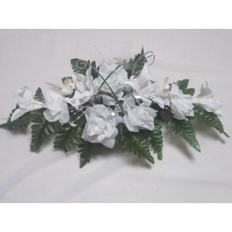 Table mariée blanc argent 50cm