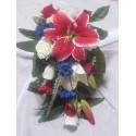 Bouquet de mariage Cascade unique avec des roses et 1 grand lys