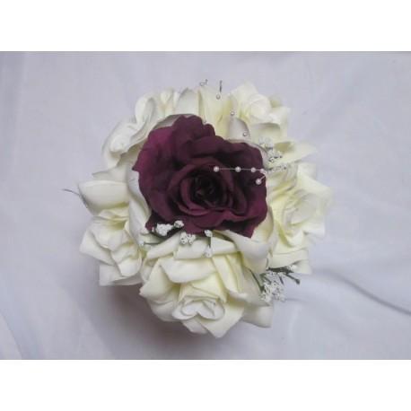 Bouquet prune / ivoire