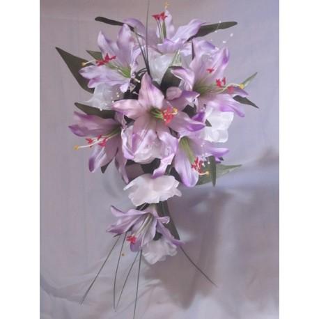 Bouquet lys parme